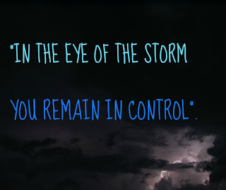 in the eye of the storm He remains in control