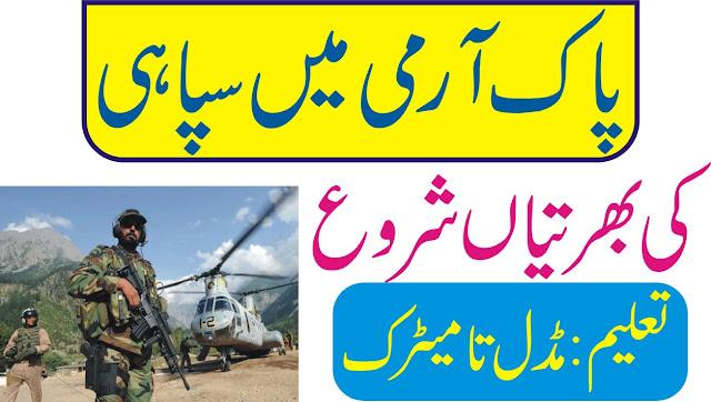 Pak Army Soldier Jobs 2020 Online Registration