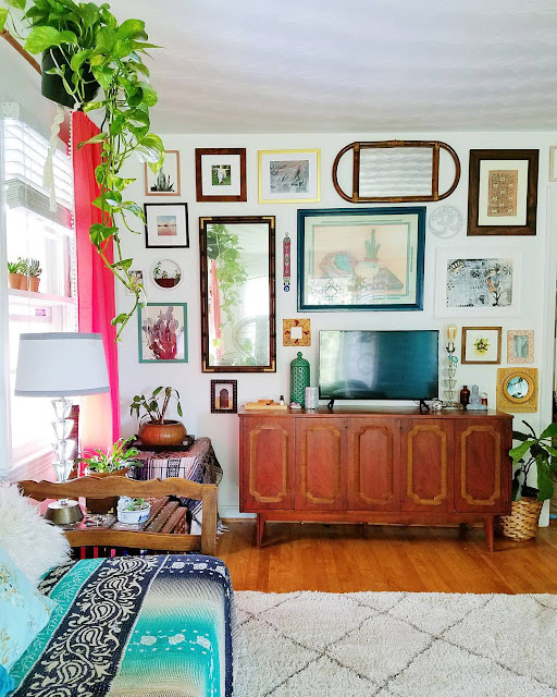 Check Out This Beautiful Vintage Collected Eclectic Gallery Wall - Curated by The Boho Abode