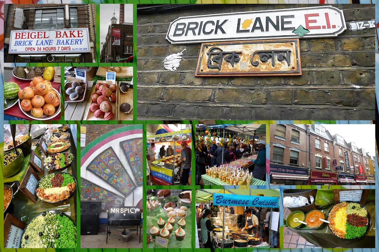 Best Food Market in the UK: Brick Lane in London