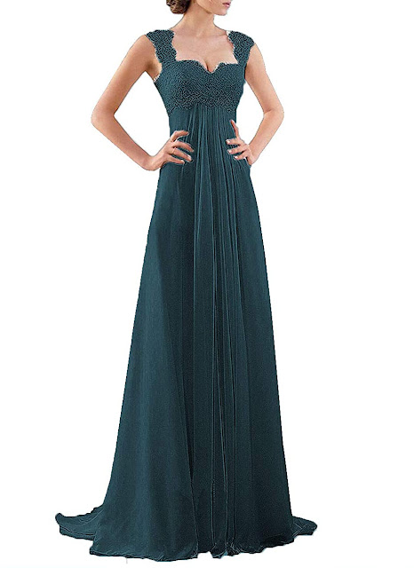 Elegant Teal Chiffon Bridesmaid Dresses