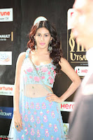 Amyra Dastur in Flower Print Choli Transparent Chunni at IIFA Utsavam Awards030.JPG