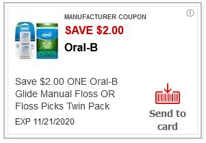 $2.00/1 Oral-B Floss CVS APP ONLY MFR Coupon (go to CVS App)