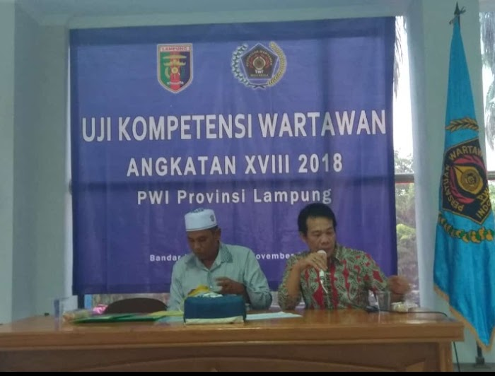 Persatuan Wartawan Indonesia (PWI) Provinsi Lampung melaksanakan pra Uji Kompetensi Wartawan (UKW) Angkatan XVIII