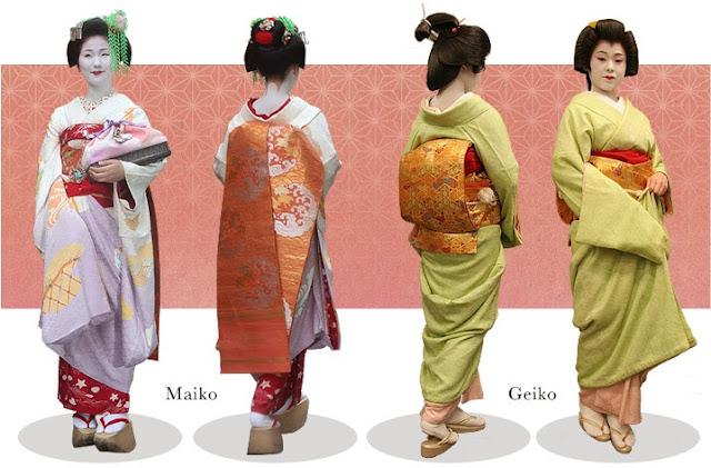 Fakta Geisha : Kimono Maiko dan Geiko