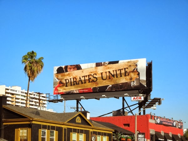 Captain Morgan Pirates Unite billboard Sunset Strip