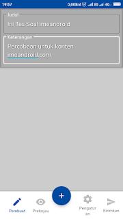 Membuat Google form di hp android