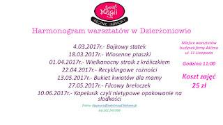Harmonogram zajęć z dziećmi w Bielawie i Dzierżoniowie.