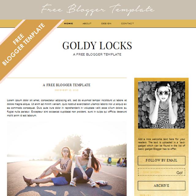 Feminine free blogger templates