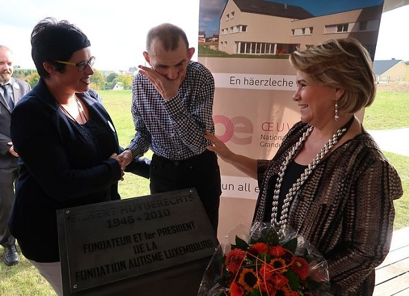 Grand Duchess Maria Teresa attended opening of autism dormitory built by Fondation Autisme Luxembourg (FAL) in Rambrouch