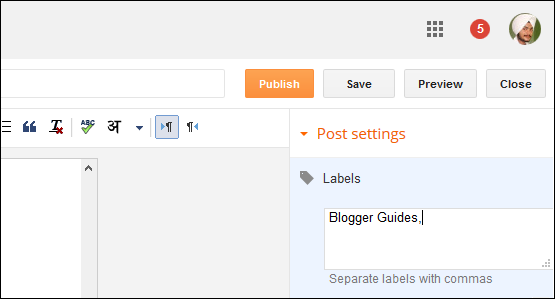 Show Blogger Labels, Add Labels in Posts, Blogger Labels Setup