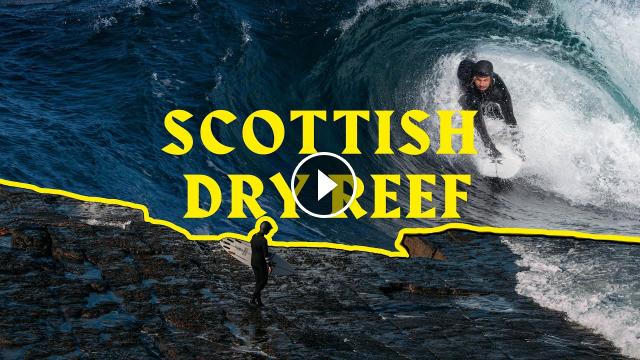 SURFING DRY REEF IN SCOTLAND VON FROTH