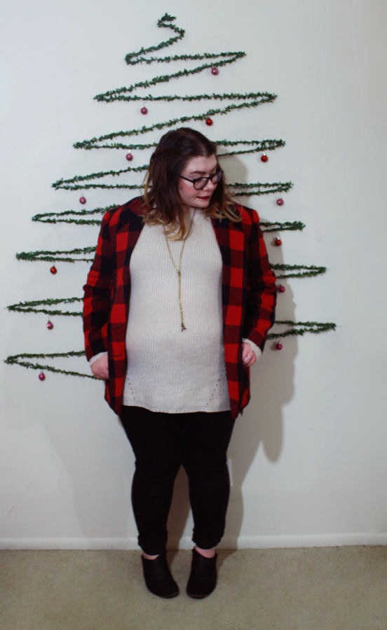 3 easy christmas outfits | www.katielikeme.com plaid fashion winter fashion christmas