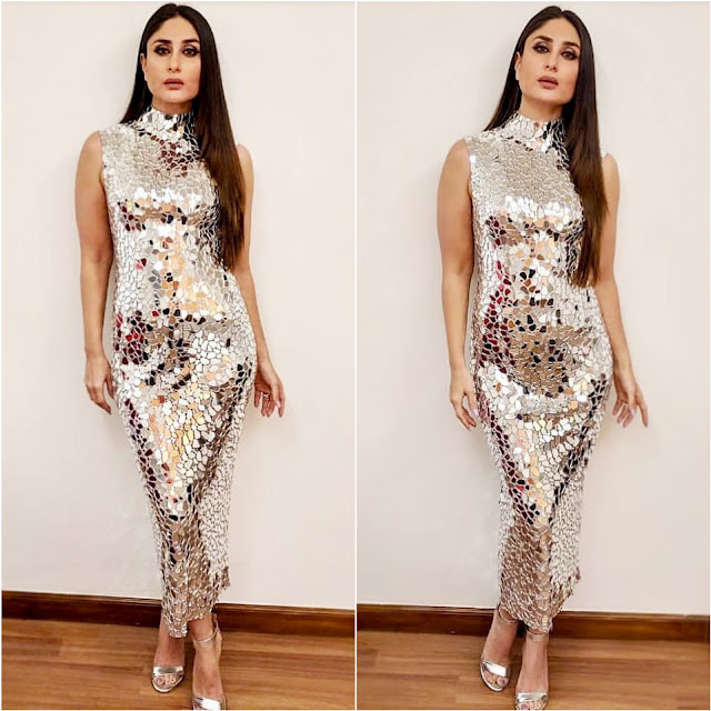Kareena Kapoor in a Silver Atelier Zuhra Dress