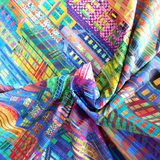 More Sewing sell Hoffman Fabrics including this Skyline design