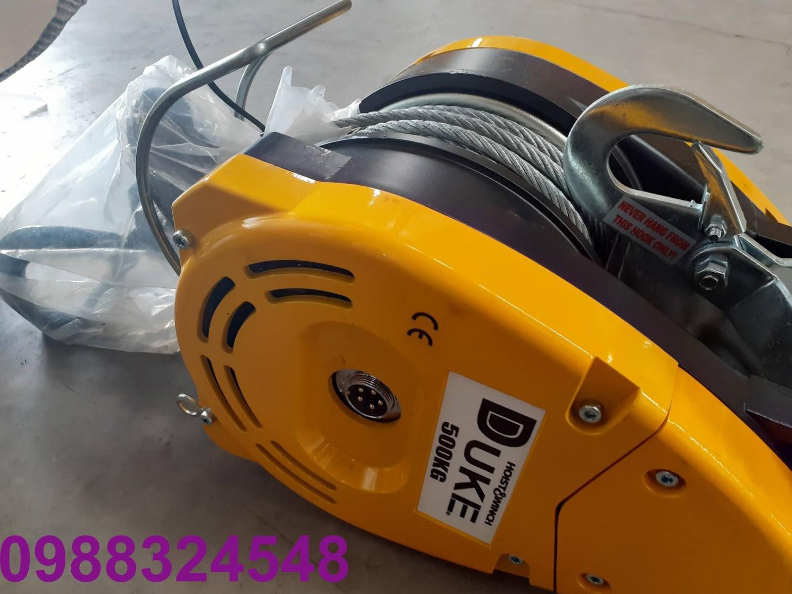 Tời cáp điện Duke treo mini DU-500A nâng 500kg