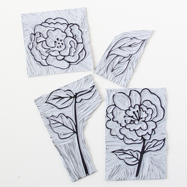 linocuts, botanical linocut, 2x2 Sketchbook, Anne Butera