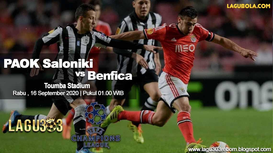 Prediksi PAOK Saloniki vs Benfica 16 September 2020 pukul 01.00 WIB