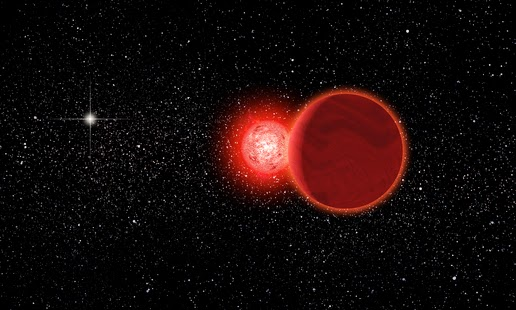 Scholz star illustration passing very close to the solar system in the past