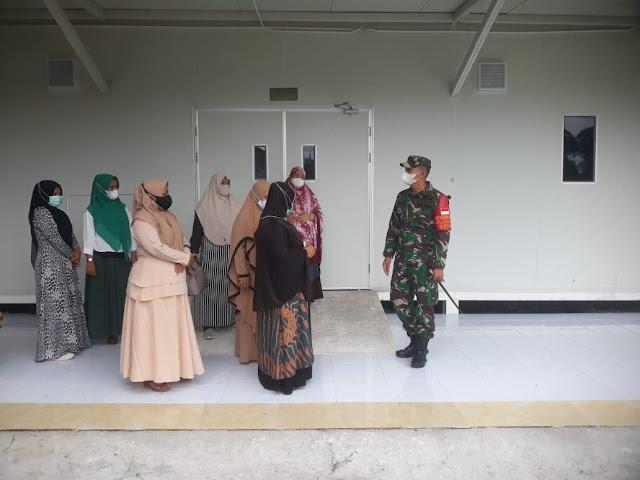 Wakil Ketua 1 Satgas Covid - 19 Aceh Barat Bersama Kadis Kesehatan Cek Ventilator di Ruang ICU Covid-19 dan Beri motivasi Pasien Isolasi mandiri secara terpusat di Rumah Sehat Beurgang