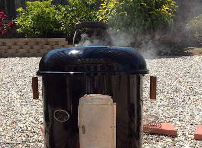 My water smoker in action and chugging away