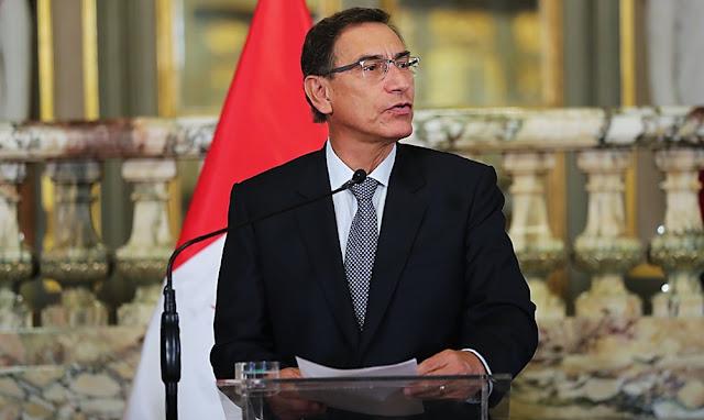 El presidente de la República, Martín Vizcarra Cornejo
