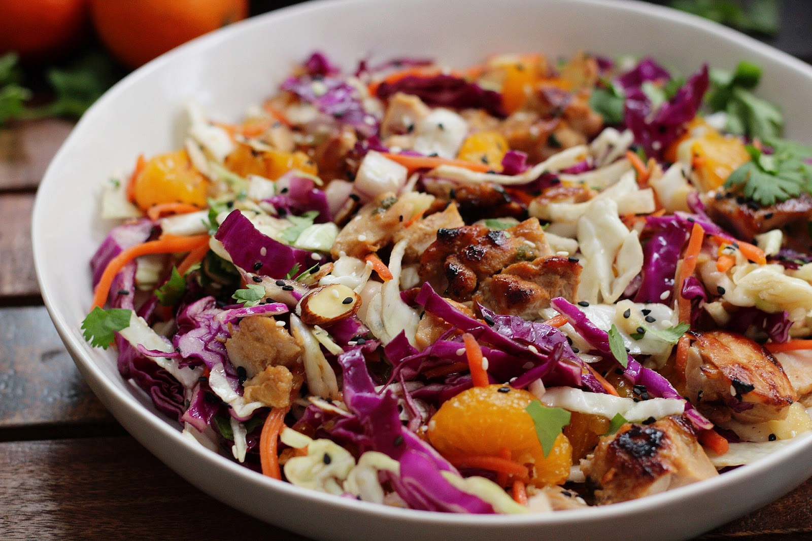 Healthy Sesame Chicken Chopped Salad #salad #diet #keto #easy #lowcarb