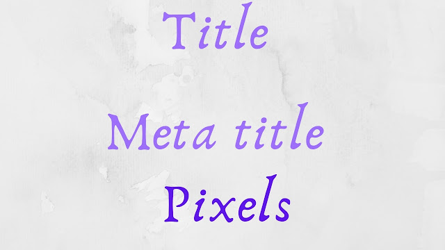 title and meta title on page seo