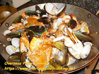 Garlic Buttered Mix Seafood Cooking Procedure