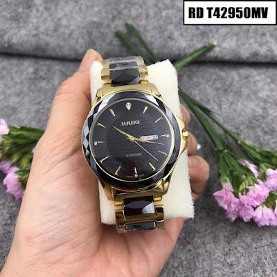 Đồng hồ đeo tay nam mặt tròn dây đá ceramic RD T42950