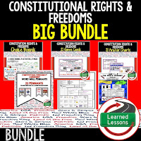 Constitutional Rights and Freedoms, Civics Mega Bundle, Government Mega Bundle, Civics and Government Curriculum, Anchor Charts, Games, Digital Interactive Notebook, Google Classroom, Word Wall, Choice Boards, Guided Notes, PowerPoints, Test Prep, Document Based Questions