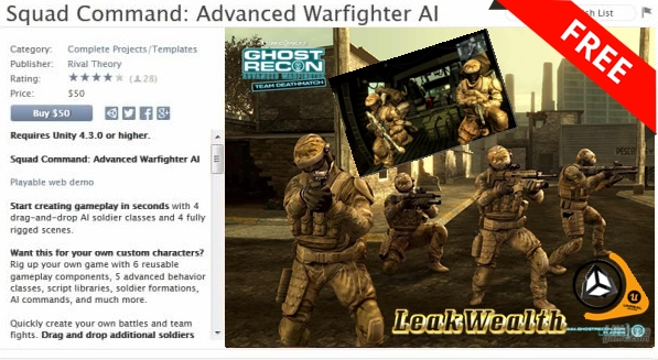 SQUAD COMMAND ADVANCED WARFIGHTER AI - Game Art 3D