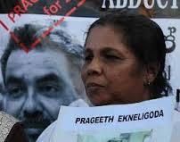 வவுனியாவில் ஆக்கப்பட்டோாின் உறவினர்கள் மேற்கொள்ளும் போராட்டத்தில் சந்தியா எக்னலிகொடவும் இணைவு