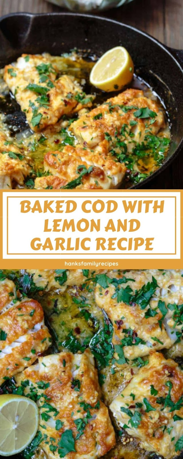 BAKED COD WITH LEMON AND GARLIC RECIPE