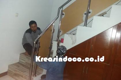Pemasangan Railing Stainless Kombinasi Akrilik Di Rumah Bpk Tomi Ciluar Bogor