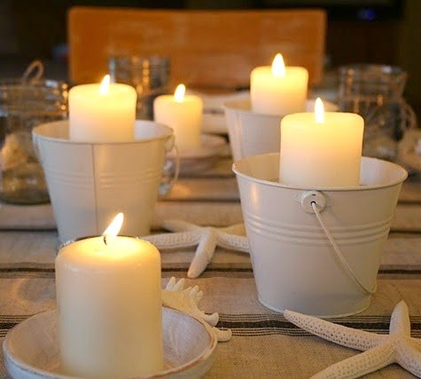 Candles in Mini Pails