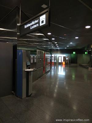 Penampakan loker-loker SBB di lantai L-1 Bandara Zurich