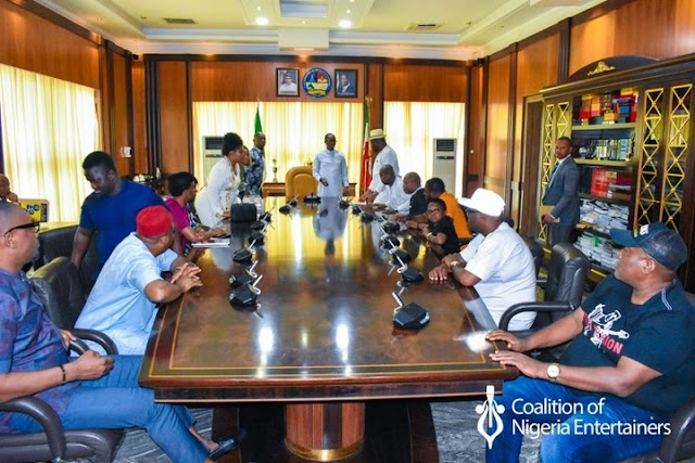 Governor Okowa Receives Ned Nwoko And Coalition Of Nigeria Entertainers