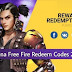 Free Fire Redeem Codes for all users