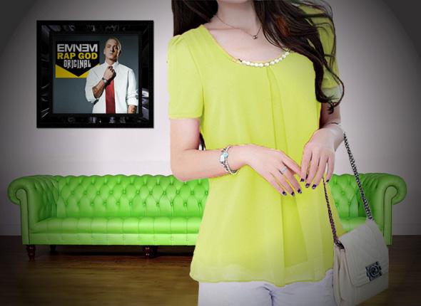 skinny indonesia atasan wanita lengan pendek satu warna