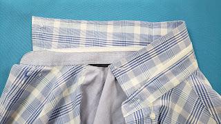 cuello de camisa reparado