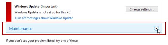 Bật/tắt auto maintenance tự động bảo trì trong Windows 8.1