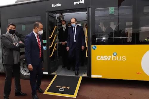 أخبار المغرب: مئات الحافلات الجديدة تجوب شوارع الدار البيضاء وسط مخاوف من التخريب  alsa casa bus ألزا كازا بيس