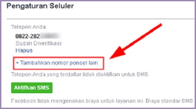Cara Mengganti Nomor FB Yang Sudah Tidak Aktif