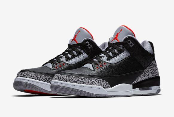 be2deee2413 2018 Air Jordan Black Cement 3 Retro Sneaker (Official Images + Release  Date Info)