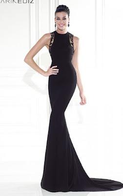 d78797c95 Este elegante vestido del diseñador Tarik Ediz es el que ha servido de  inspiración a la página rusa materials.tell4all.ru para ofrecernos su  propia versión ...