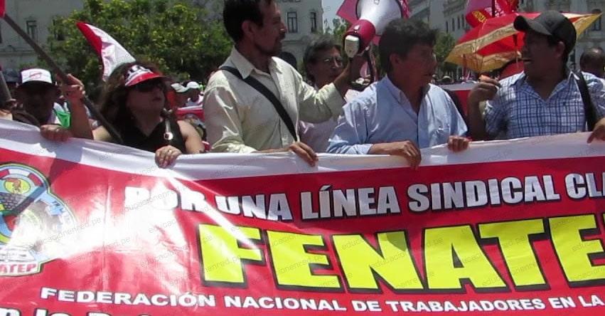 FENATE: Inician inscripción del partido político Magisterial y Popular, sindicato creado por Pedro Castillo