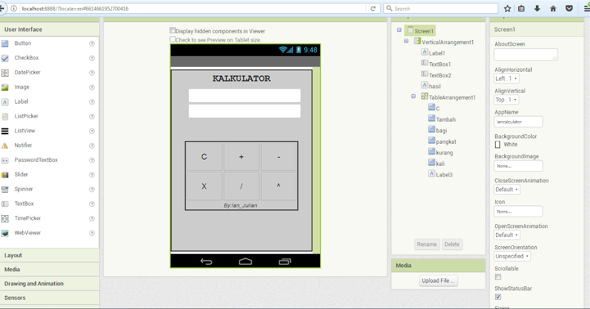 Cara Membuat Aplikasi Kalkulator Android Menggunakan MIT App Invertor 2 - Jejak Kaki