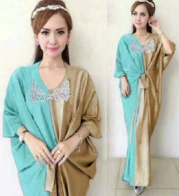 Jual Maxi Dress Kaftan Luxury Gold - 12435