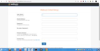 setting webuzo